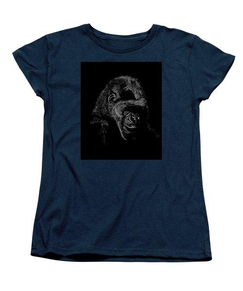 Silverback Women's T-Shirt (Standard Cut) by Lawrence Tripoli
