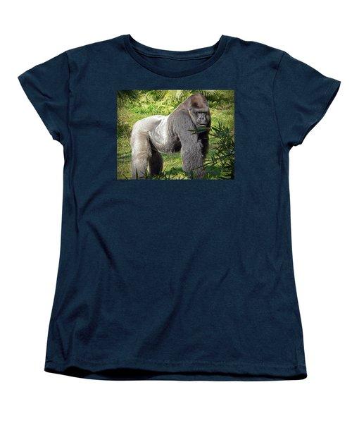 Silverback Women's T-Shirt (Standard Cut) by Steven Sparks