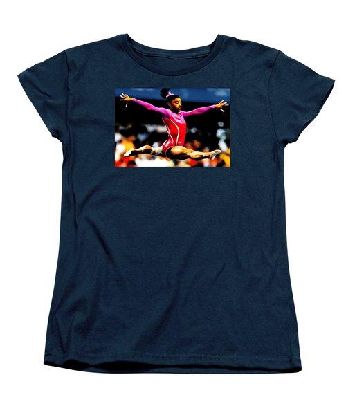 Simone Biles Women's T-Shirt (Standard Cut) by Brian Reaves