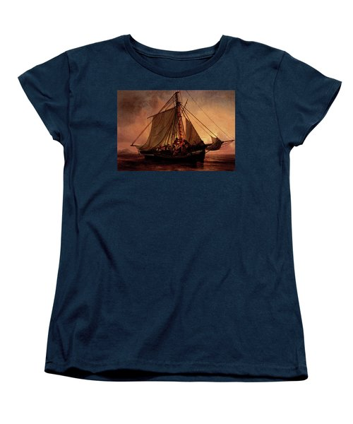 Simonsen Niels Arab Pirate Attack Women's T-Shirt (Standard Cut) by Niels Simonsen