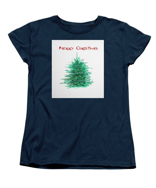 Simple Christmas  Women's T-Shirt (Standard Cut) by Marna Edwards Flavell