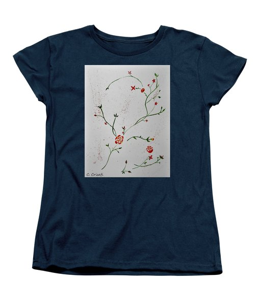 Simple Flowers #1 Women's T-Shirt (Standard Cut) by Carol Crisafi