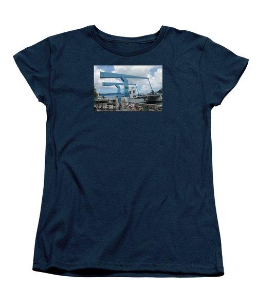 Simpson Bay Bridge St Maarten Women's T-Shirt (Standard Cut) by Christopher Kirby