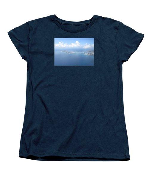 Simpson Bay St. Maarten Women's T-Shirt (Standard Cut) by Christopher Kirby