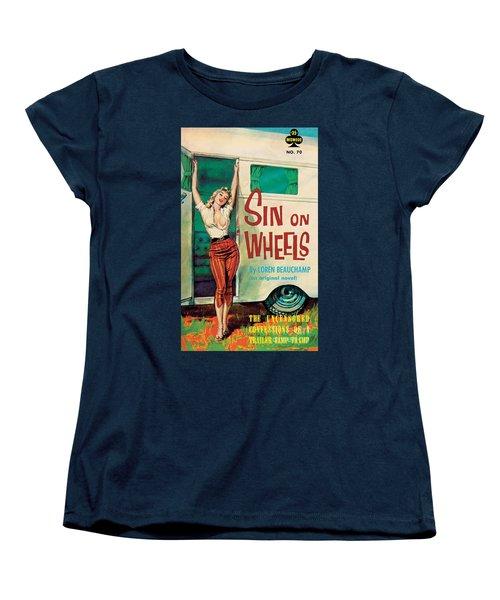 Sin On Wheels Women's T-Shirt (Standard Cut) by Paul Rader