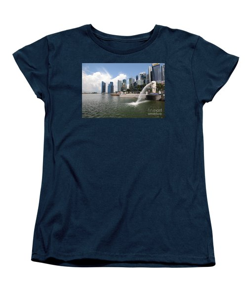 Singapore Women's T-Shirt (Standard Cut) by Charuhas Images