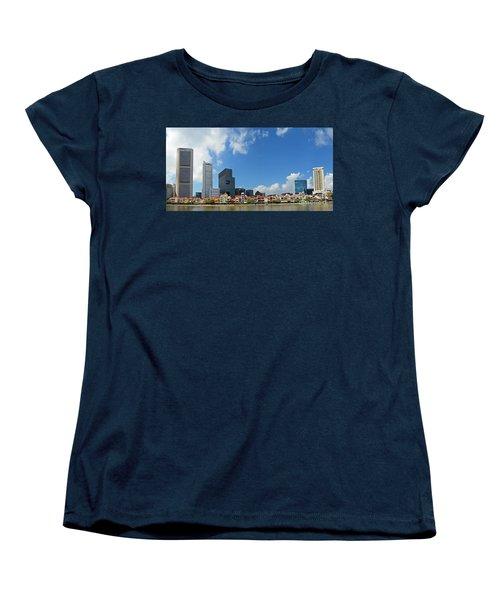 Singapore River Front Women's T-Shirt (Standard Cut) by Eva Kaufman