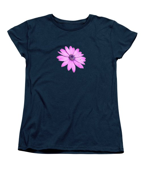 Single Pink African Daisy Women's T-Shirt (Standard Cut) by Tracey Harrington-Simpson