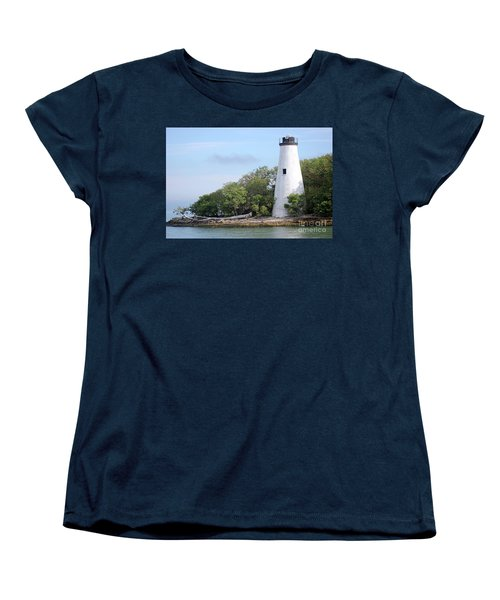 Sister Island Lighthouse Women's T-Shirt (Standard Cut) by The Art of Alice Terrill