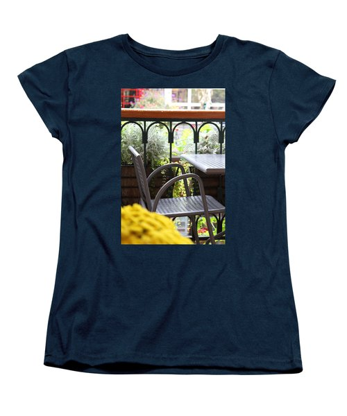 Women's T-Shirt (Standard Cut) featuring the photograph Sit A While by Laddie Halupa