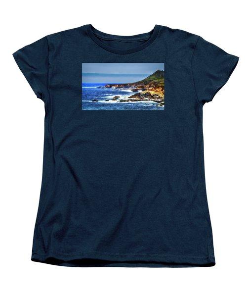 Sit And Stare Beach Women's T-Shirt (Standard Cut) by Joseph Hollingsworth