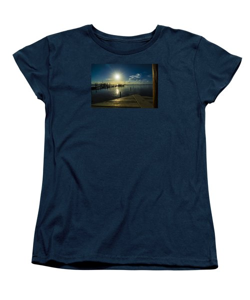 Sitting On The Dock Of The Bay Women's T-Shirt (Standard Cut) by Kevin Cable