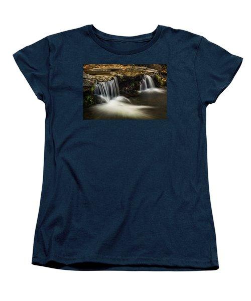 Women's T-Shirt (Standard Cut) featuring the photograph Sitting Under The Waterfall  by Saija Lehtonen