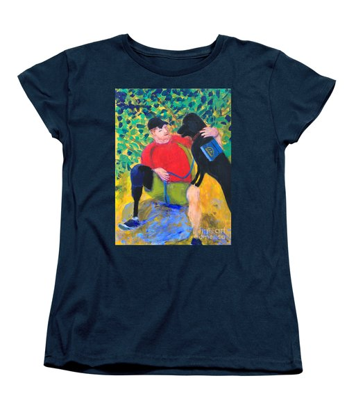 Women's T-Shirt (Standard Cut) featuring the painting One Team Two Heroes-4 by Donald J Ryker III