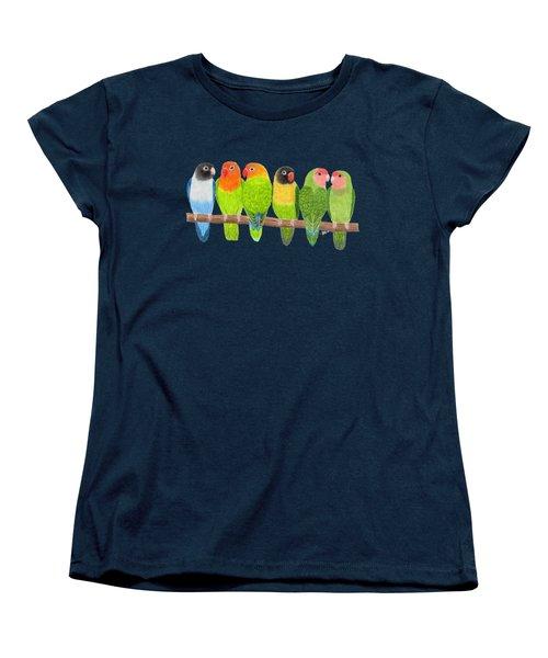 Six Lovebirds Women's T-Shirt (Standard Cut) by Rita Palmer