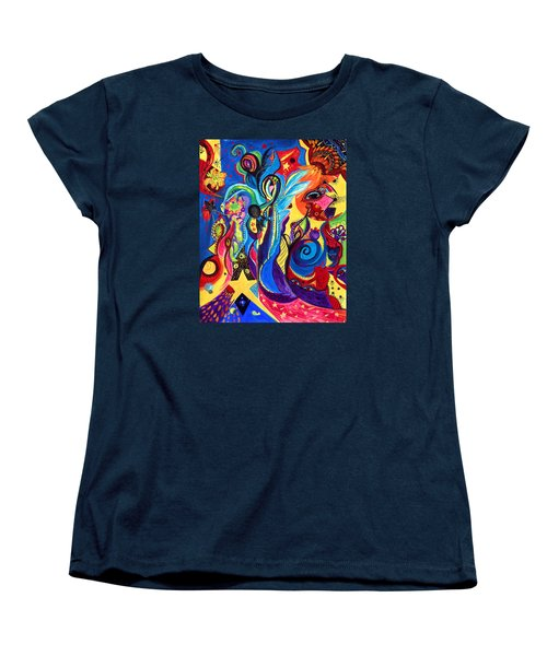 Women's T-Shirt (Standard Cut) featuring the painting Guardian Angel by Marina Petro