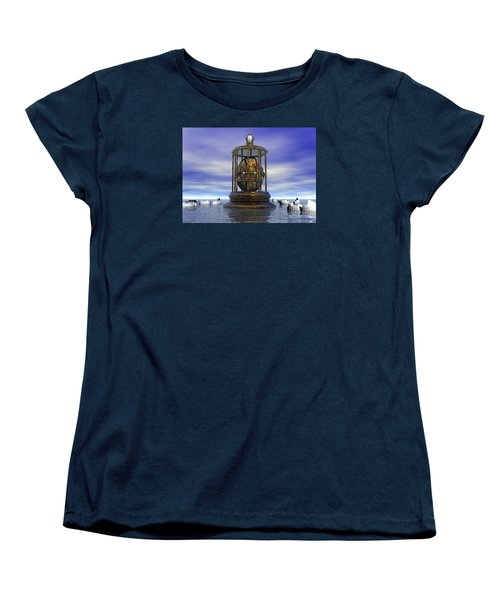 Sixth Sense - Surrealism Women's T-Shirt (Standard Cut) by Sipo Liimatainen