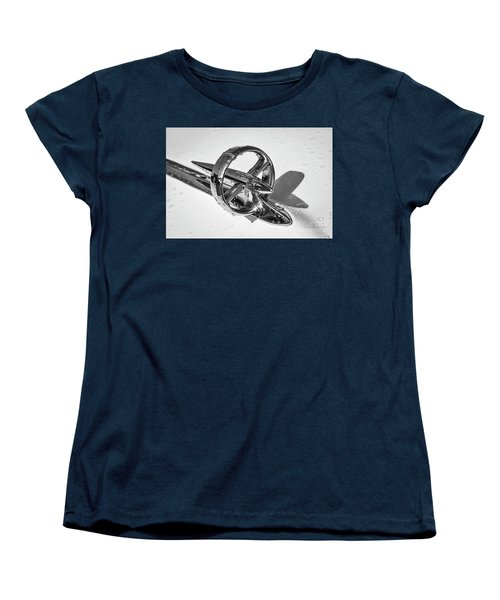 Women's T-Shirt (Standard Cut) featuring the photograph Special Hood Ornament Monotone by Dennis Hedberg