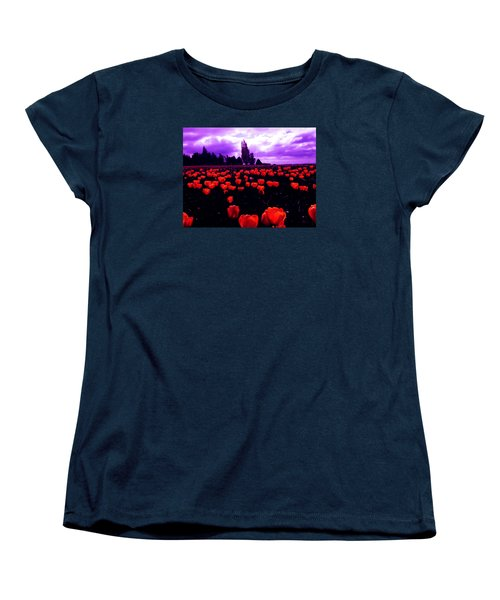 Women's T-Shirt (Standard Cut) featuring the photograph Skagit Valley Tulips by Eddie Eastwood