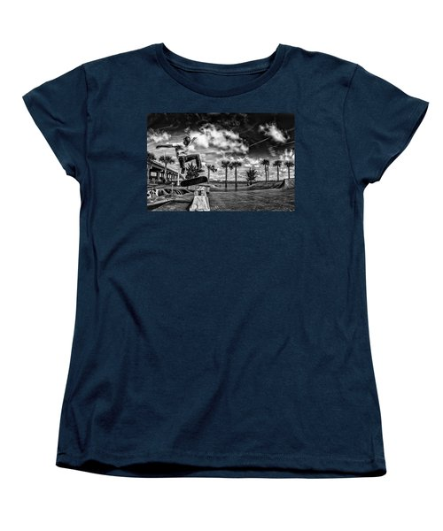 Skate Pushing The Boundries Women's T-Shirt (Standard Cut) by Kevin Cable