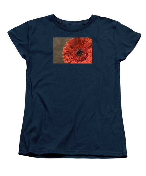 Skc 5127 The Heart Of The Gerbera Women's T-Shirt (Standard Cut) by Sunil Kapadia