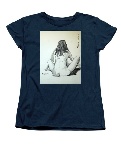 Women's T-Shirt (Standard Cut) featuring the painting Sketch For Sera.10.02 by Ray Agius