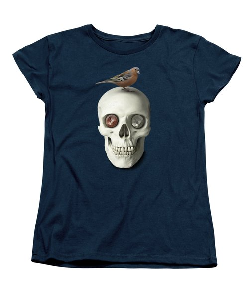 Skull And Bird Women's T-Shirt (Standard Cut) by Ivana Westin