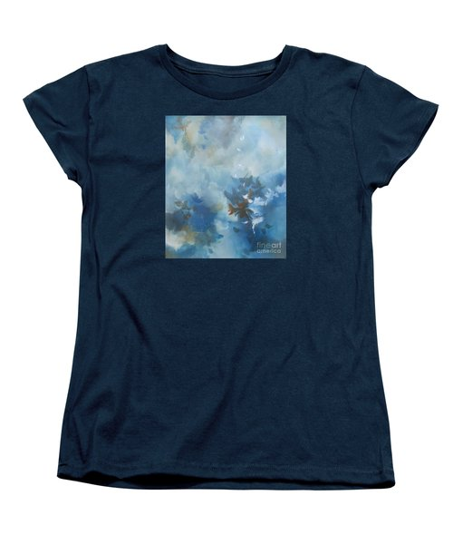 Women's T-Shirt (Standard Cut) featuring the painting Sky Fall I by Elis Cooke