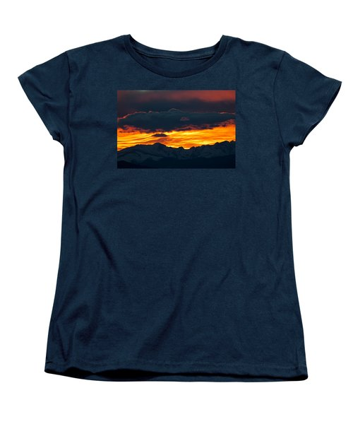 Sky Lava Women's T-Shirt (Standard Cut) by Colleen Coccia