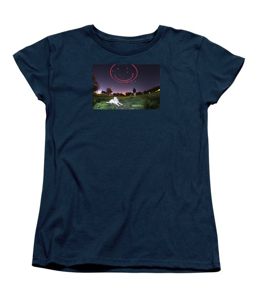 Sky Smile Women's T-Shirt (Standard Cut) by Andrew Nourse