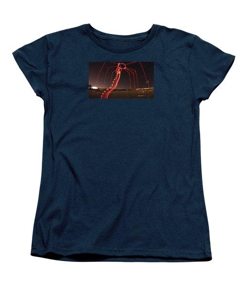 Sky Spider Women's T-Shirt (Standard Cut) by Andrew Nourse