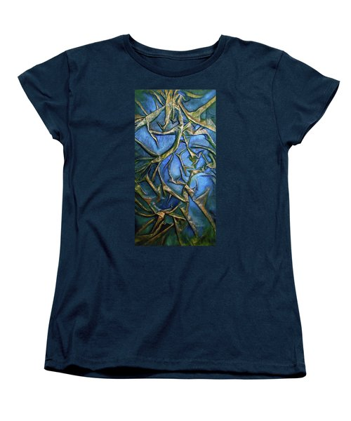 Women's T-Shirt (Standard Cut) featuring the mixed media Sky Through The Trees by Angela Stout