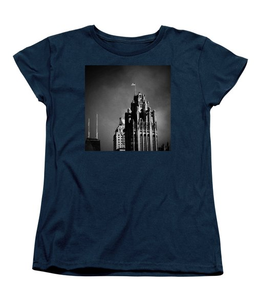 Skyscrapers Then And Now Women's T-Shirt (Standard Cut) by Frank J Casella