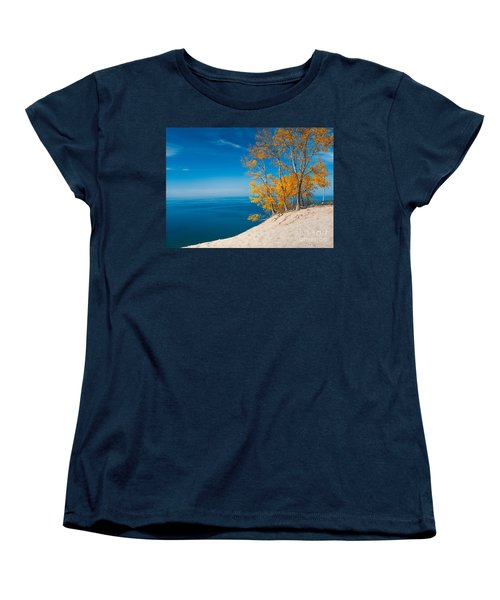 Sleeping Bear Dunes Vista 002 Women's T-Shirt (Standard Cut) by Larry Carr