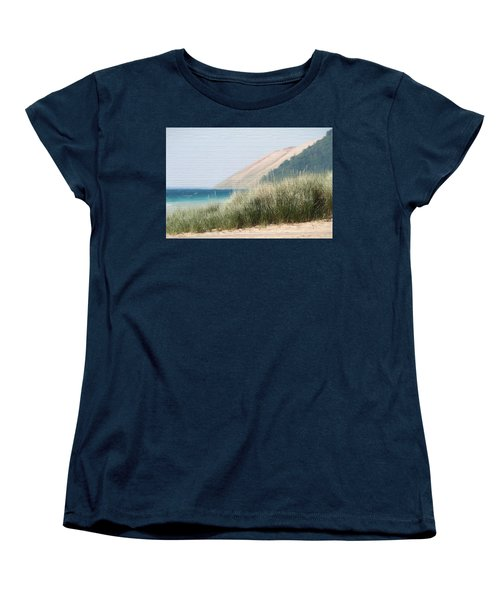 Sleeping Bear Sand Dune Women's T-Shirt (Standard Cut) by Dan Sproul