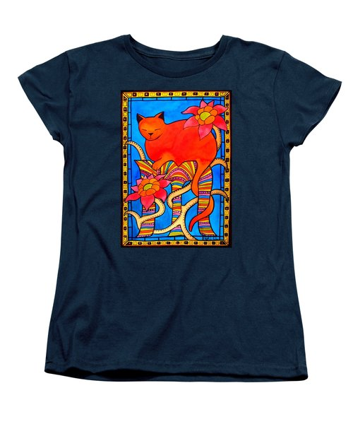 Women's T-Shirt (Standard Cut) featuring the painting Sleeping Beauty By Dora Hathazi Mendes by Dora Hathazi Mendes