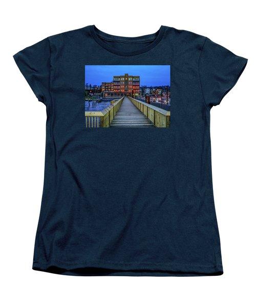 Sleepy Hollow Pier Women's T-Shirt (Standard Cut) by Jeffrey Friedkin