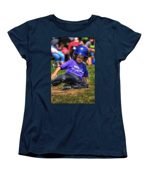Sliding Home 1822 Women's T-Shirt (Standard Cut) by Jerry Sodorff