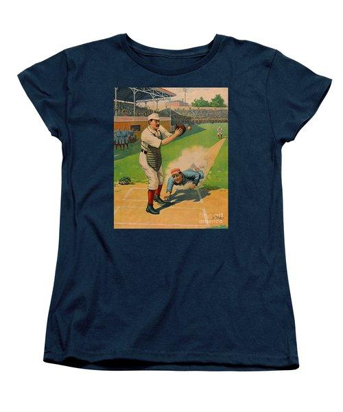 Sliding Home 1897 Women's T-Shirt (Standard Cut) by Padre Art