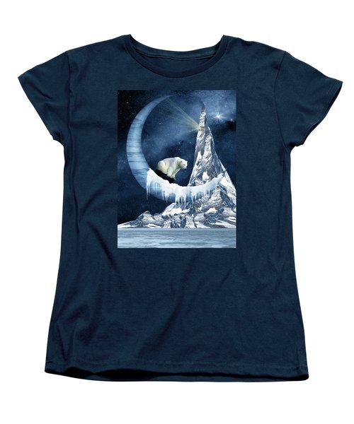 Sliding On The Moon Women's T-Shirt (Standard Cut) by Mihaela Pater