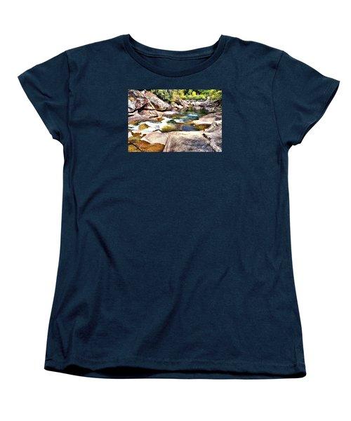 Sliding Rock Falls Women's T-Shirt (Standard Cut) by James Potts