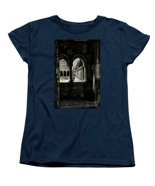 Women's T-Shirt (Standard Cut) featuring the photograph Sligo Abbey Interior by RicardMN Photography