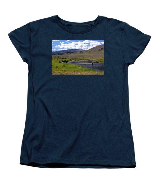 Slough Creek Angler Women's T-Shirt (Standard Cut) by Marty Koch