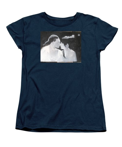 Women's T-Shirt (Standard Cut) featuring the painting Slowly Captivated by Keith Thue