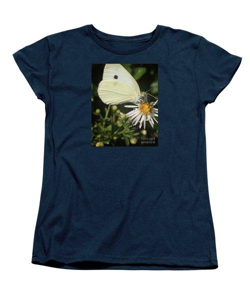 Women's T-Shirt (Standard Cut) featuring the photograph Sm Butterfly Rest Stop by Christina Verdgeline