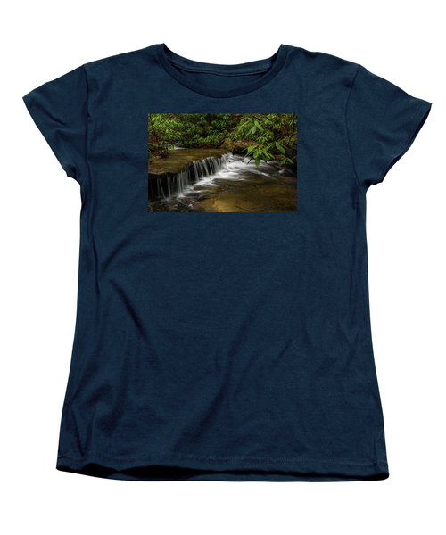 Small Cascade On Pounder Branch. Women's T-Shirt (Standard Cut) by Ulrich Burkhalter