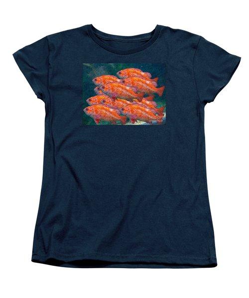 Small School Women's T-Shirt (Standard Cut) by Ron Bissett