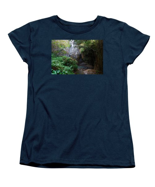 Small Waterfall Women's T-Shirt (Standard Cut) by Ricardo J Ruiz de Porras