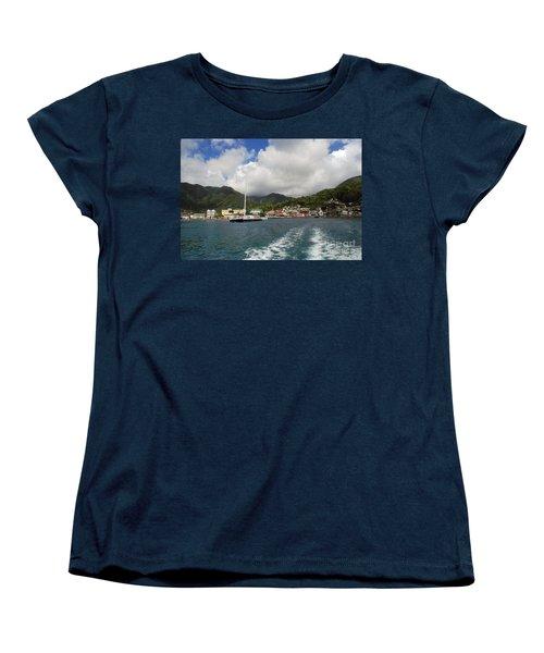 Smalll Village Women's T-Shirt (Standard Cut) by Gary Wonning