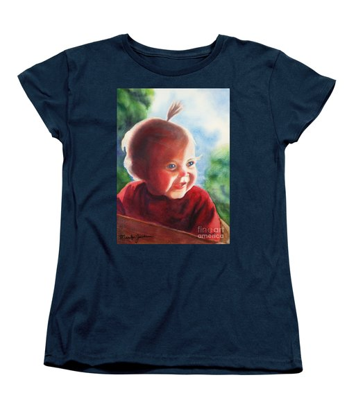 Women's T-Shirt (Standard Cut) featuring the painting Smile by Marilyn Jacobson